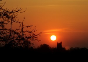 Sunset Over Wychbold Church